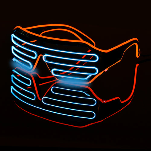 Double-colored flashing LED glasses