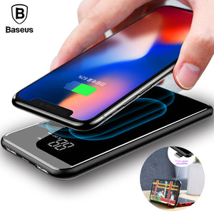Wireless power bank for iPhone X/ 8/ 8 Plus and  Samsung S9/ S8/ S7