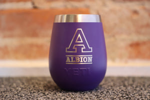Purple Yeti Wine Tumbler- Albion College