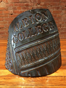 Albion College Blue Pottery Slab by Nobel Schuler