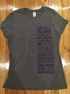 Albion College Scroll T-Shirt - Womens