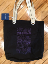 Albion College Scroll Tote Bag