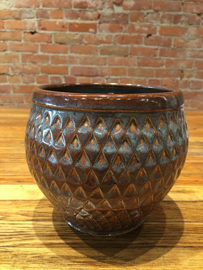 Brown Glaze Medium Vase by Nobel Schuler