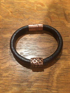 Leather Bracelet by GG's Gems
