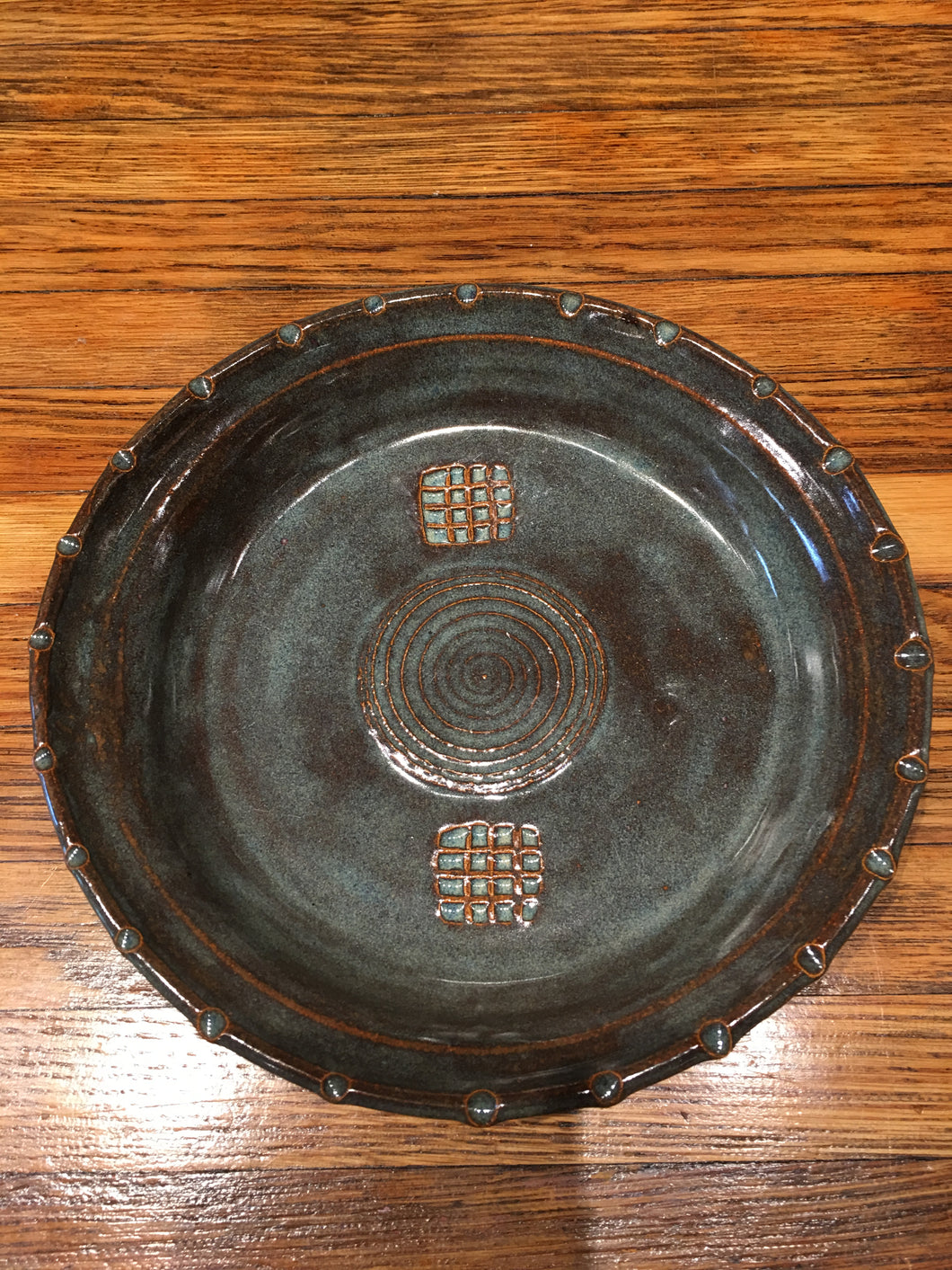 Blue and Brown Plate by Nobel Schuler