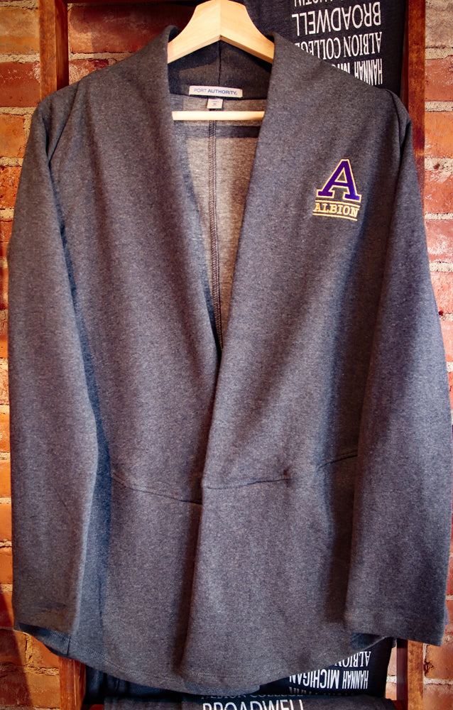 Cardigan for Women - Embroidered Albion College 'A'