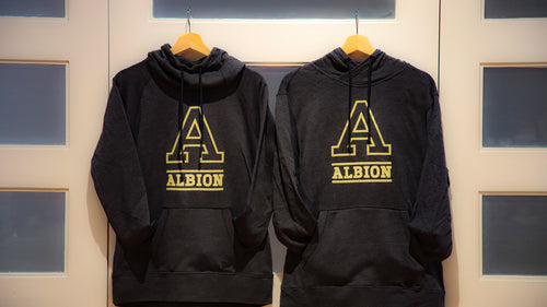 Tri-Blend Fleece Hoodie - Albion College 'A'