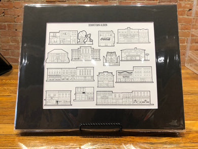 Downtown Albion Buildings Print
