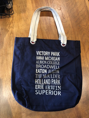Albion Scroll Tote Bag