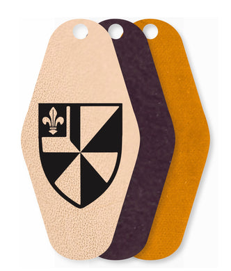 Albion College Leather Keychain