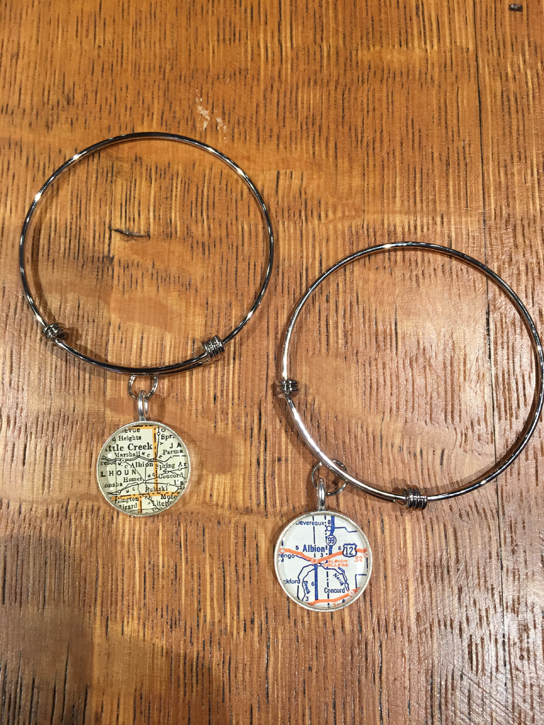 Albion Map Pendant Bracelets - Chella's Collection