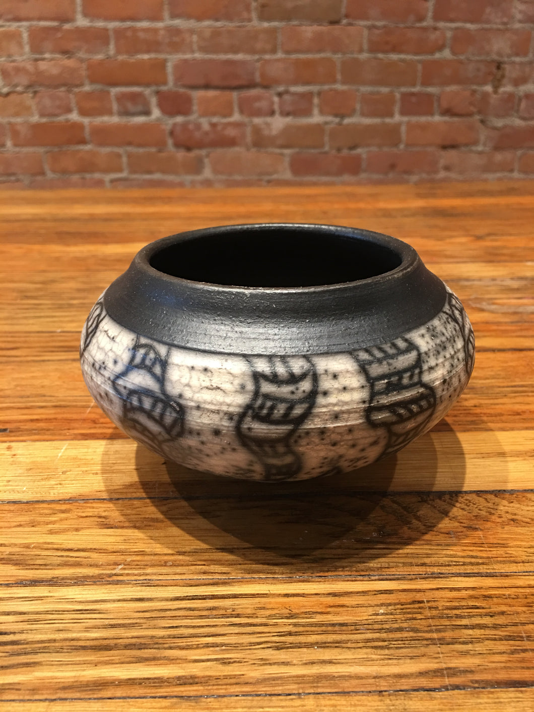 Small Black Design Vase by Nobel Schuler