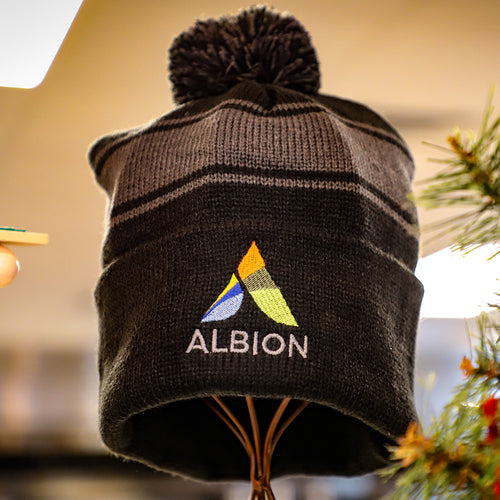 Albion Embroidered Knit Beanie