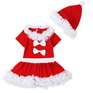 da11b4758478 Iuhan Toddler Baby Girls Christmas Outfits Long Sleeve Dress+Cap ...