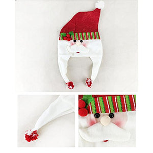 f506a420f07b8 Christmas Fancy Dress Party Wear Hat Cute Cartoon Santa Claus Xmas Cap for  Children Adults Novelty