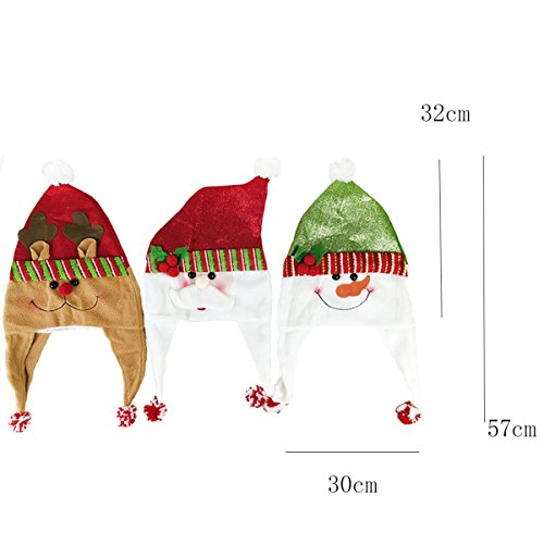 0ad3113391e39 ... Christmas Fancy Dress Party Wear Hat Cute Cartoon Santa Claus Xmas Cap  for Children Adults Novelty ...