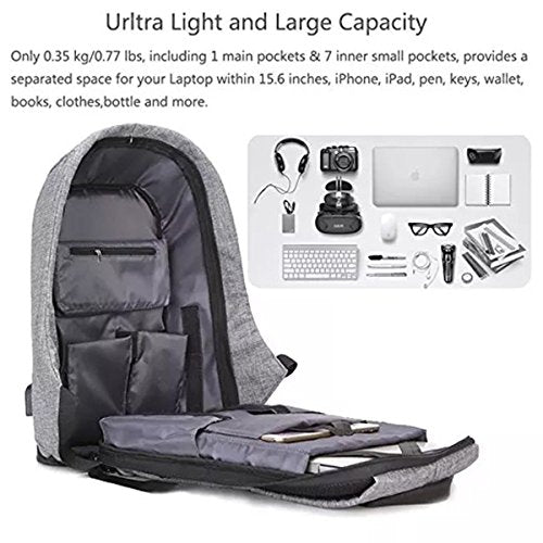 f5d711d3ab ... Ozoy zofey Business Anti-theft Water Resistant USB Charging Port Laptop  Backpack ...