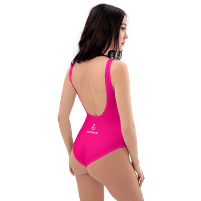 Pink one-piece swimsuit - ENTROO