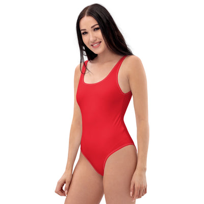 Red One-Piece swimsuit - ENTROO