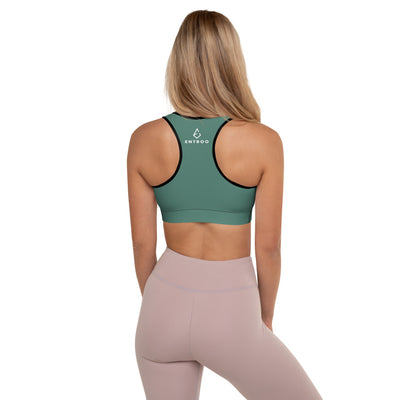 ENTROO Padded Sports Bra ORIGINAL CLASSIC Hooker's Green Edition - ENTROO