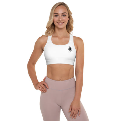 White Padded Sports Bra - ENTROO