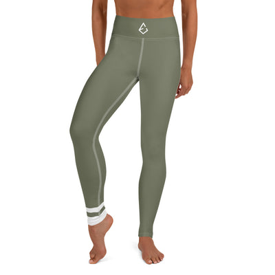 Olive Green Yoga Leggings - ENTROO