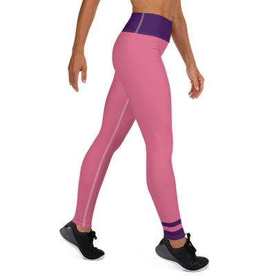 Rose Pink and Purple Yoga Leggings - ENTROO