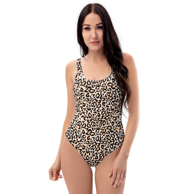 Leopard print one-piece swimsuit - ENTROO