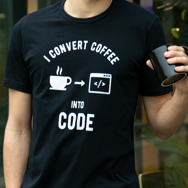 Programming T-shirt - Coffee To Code - Made4Dev.com