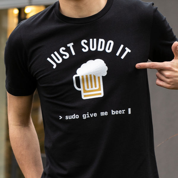 Programming T-shirt - Sudo Give Me Beer - Made4Dev.com