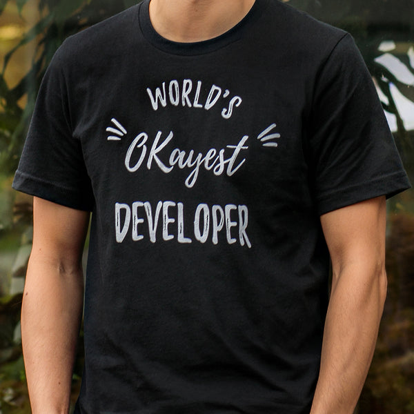 Programming T-shirt for Programmers - World's Okayest Developer - Made4Dev.com