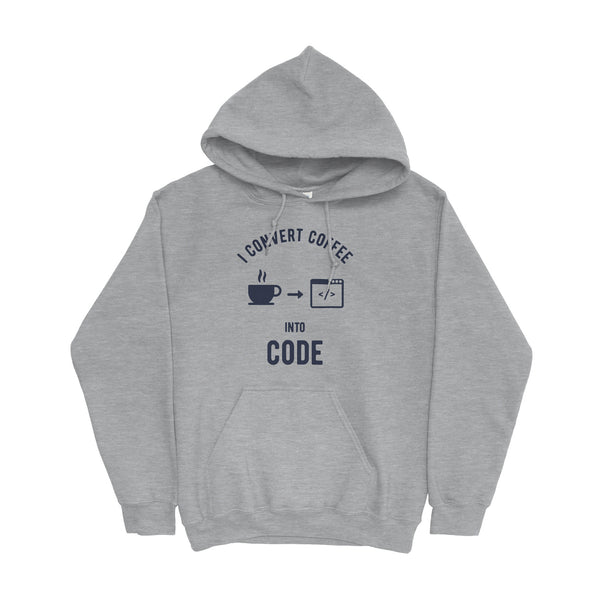 I Convert Coffee Into Code Hoodie For Developers - Programmer Hoodies From Made4Dev.com