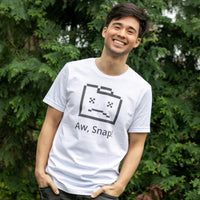 Aw Snap T-Shirt for Developers - Programming Tees From Made4Dev.com