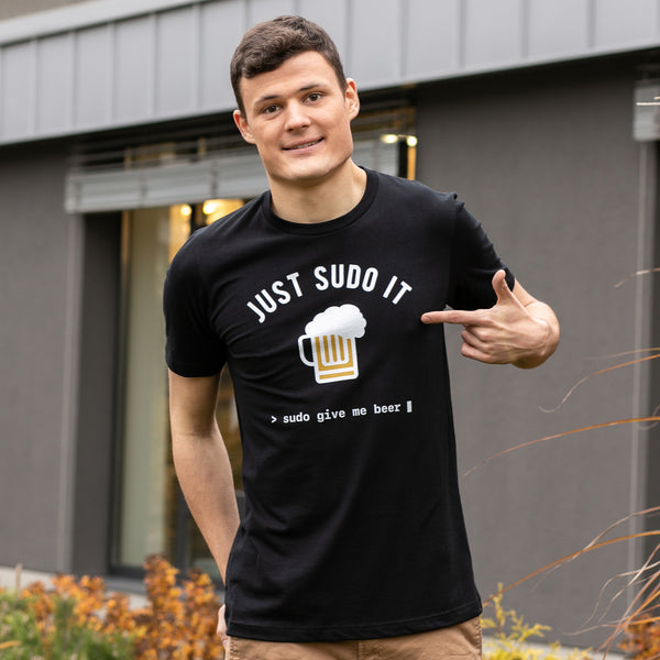 Sudo Give Me Beer T-Shirt for Developers - Programmer Tees From Made4Dev.com