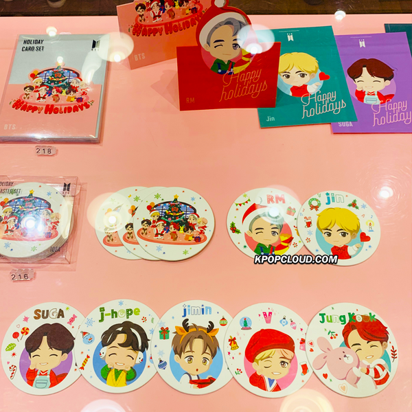 BTS OFFICIAL HOUSE OF BTS SEOUL MD – Coaster Holiday Ver. 10ea
