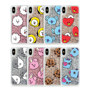 [BT21] Glitter Case Hang Out Pattern Series