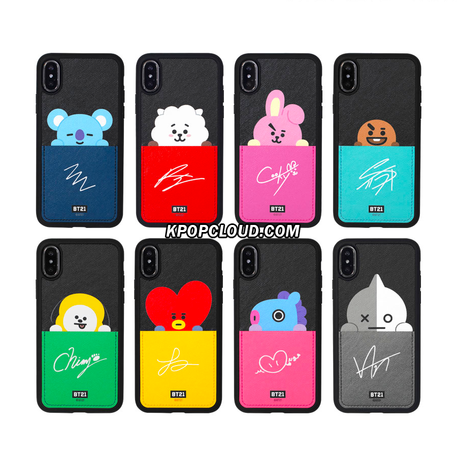 BT21 Official Card Pocket Bumper Case