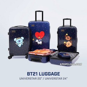 BT21 Official Luggage Universtar Ver + Gift Pouch (Express Shipping)