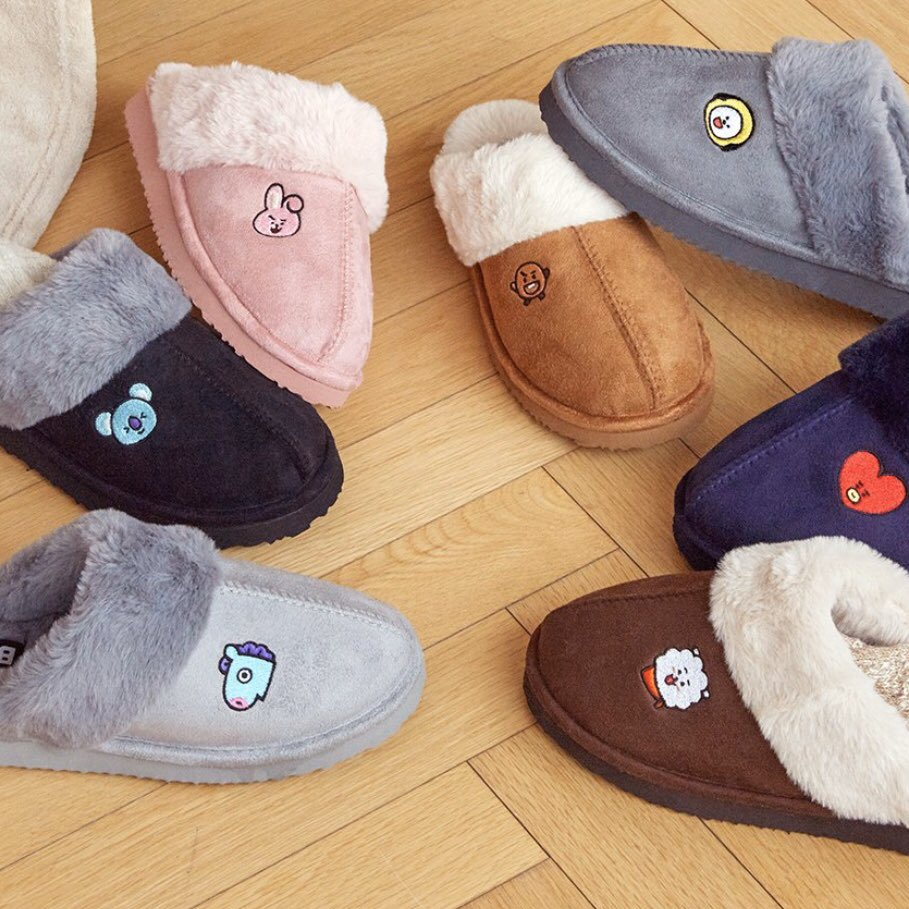 BT21 Official Happy Fur Winter Slippers