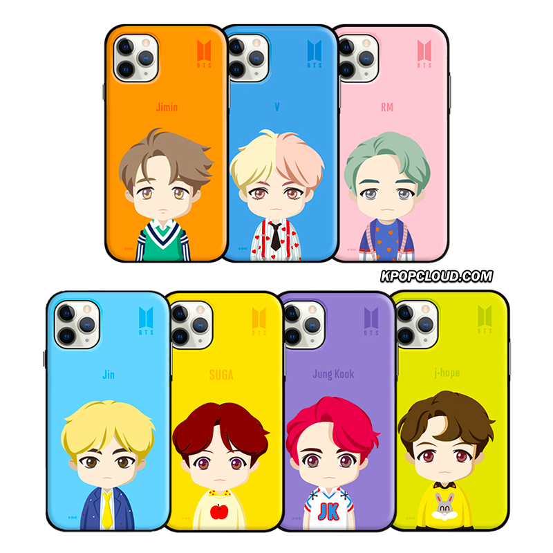 BTS OFFICIAL CHARACTER UPPER BODY Open Card Case (for iPhone)