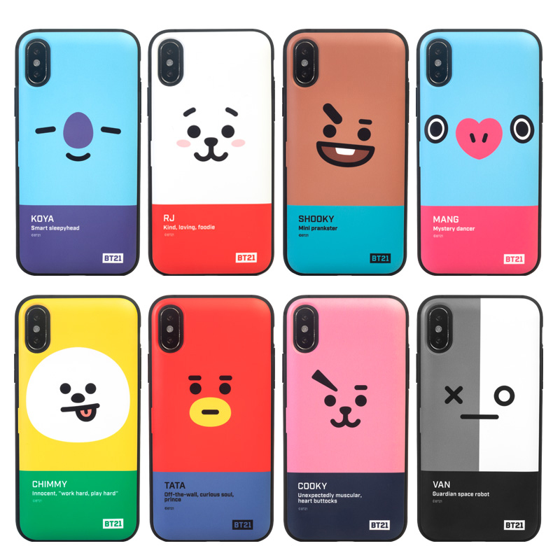 BT21 Official Face Multi Card Bumper Case (For iPhone & Samsung)