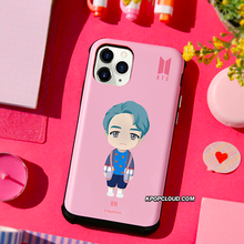 Load image into Gallery viewer, BTS OFFICIAL CHARACTER BASIC STANDING VOLUME Bumper Slide Case (for iPhone)