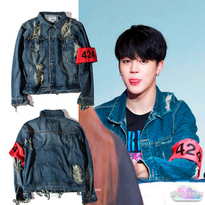 [BTS] Jimin ''Four Two Four'' Denim Jacket