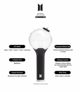 BTS Official Lighstick ARMY BOMB version 3 (Free Shipping)