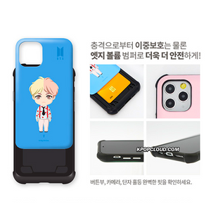 BTS OFFICIAL CHARACTER BASIC STANDING VOLUME Bumper Slide Case (for iPhone)