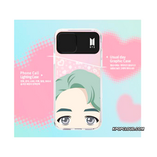 Load image into Gallery viewer, BTS OFFICIAL CHARACTER FULL FACE Light up Case (iPhone and Samsung)