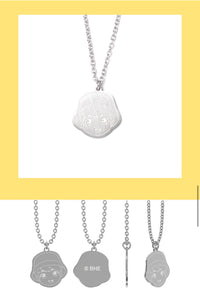 [TinyTAN] Stainless Steel Member Necklace