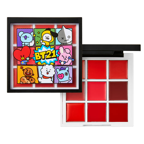 [BT21] VT Cosmetics ART IN LIP PALETTE 1g x 9 / 0.03oz x 9