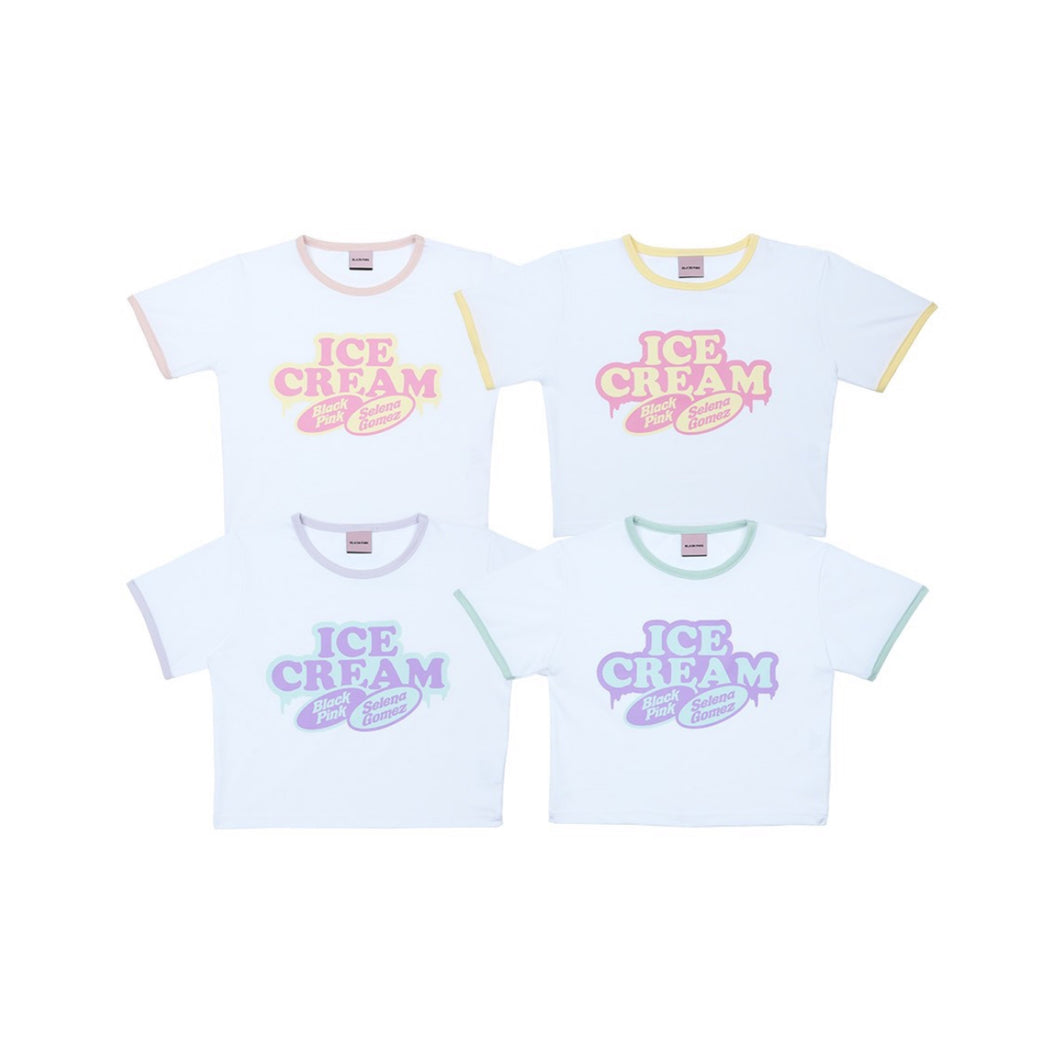 [YG] BLACKPINK ICECREAM CROPPED T-SHIRTS