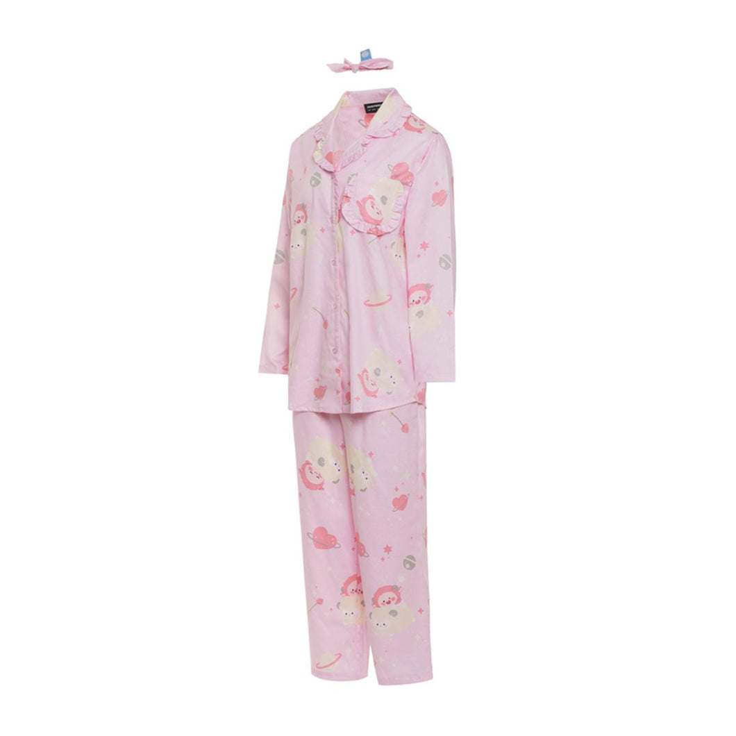 [KAKAO FRIENDS] Lovely Apeach Frill Pajama Women